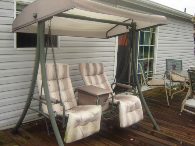 Patio Swing With Console Swing Covers All Patio