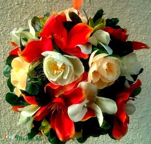 Narancsos virággömb (16 cm) (pinkrose) - Meska.hu