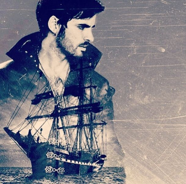 Once Upon a Time's Captain Hook and The Jolly Roger. Ahhh! I already want to see where the second half season will take us!