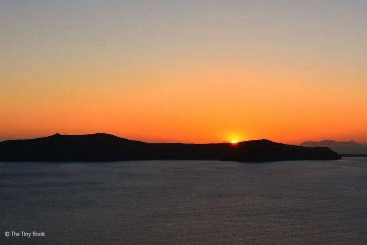 Sunset in Thira, Amazing Santorini. Santorini dreamy photo destination