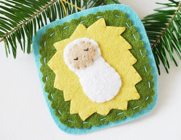 Sweet Sleeping Baby Jesus Ornament| Nice project for young kids!