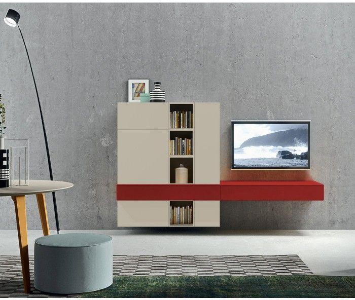 Design TV Wohnwand Novamobili in Sabbi/ TV Board