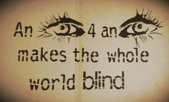 we just do not see things when blinded by revenge