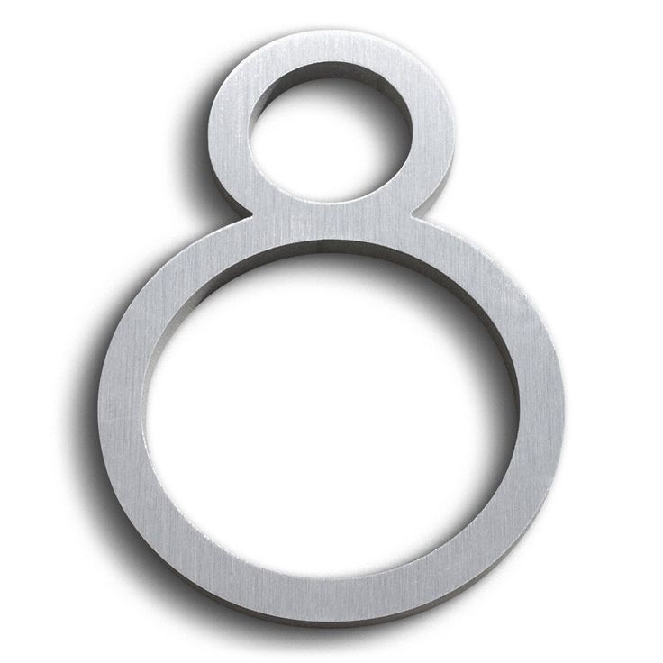 Modern House Number Aluminum Contemporary Font Number Eight 8 by moderndwell on Etsy https://www.etsy.com/listing/493252270/modern-house-number-aluminum