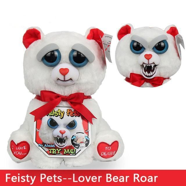 Funny Monkey Plush Lover Bear Roar Bear Valentines Pets Bear