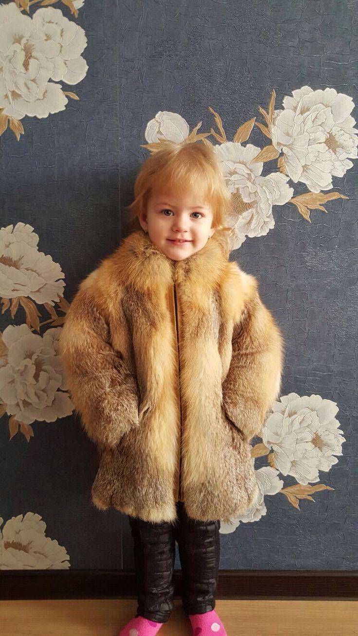 Купить Детская шуба из лисы - шубка, шуба из лисы, шуба для девочки, мех натуральный, рыжий