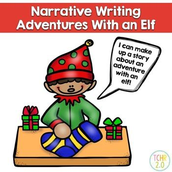 In this narrative writing unit you walk outside and see an elf! Your students must write a story about what happens next. A fun writing assignment to do during the Christmas season. Pages included: Direction sheet Graphic organizer for brainstorming what you could do with an elf Graphic organizer