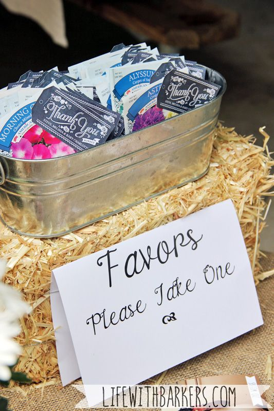 a coed rustic country backyard park bbq barbeque themed baby shower seed packet