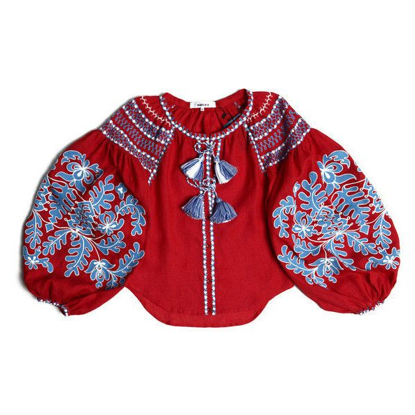Ethnic Ukrainian Folk and Modern Embroidered Blouse Boho Vyshyvanka... ($315) ❤ liked on Polyvore featuring tops, blouses, dresses, grey, women's clothing, floral print tops, embroidered boho top, checkered blouse, linen blouses and gray blouse