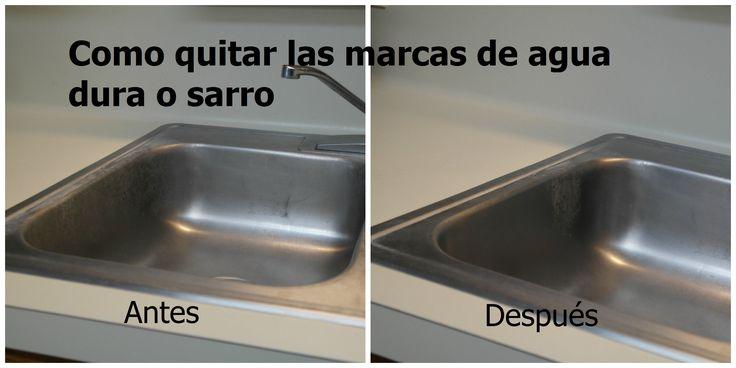 M s de 20 ideas incre bles sobre manchas de agua dura en - Quitar oxido inodoro ...