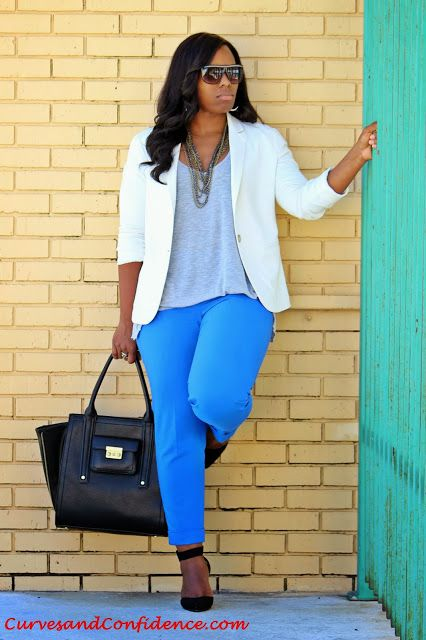 White on Point @FOREVER™ 21 Blazer, @Express  ankle trousers @Target Phillip Lim For Target purse