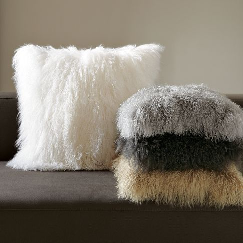 Awesome Mongolian Lamb Pillow Covers By West Elm Amazing Pictures