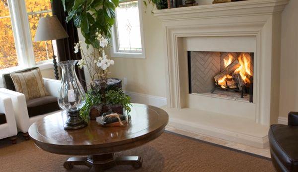 Superior 38 Inch Wood Burning Fireplace With Herringbone Grey