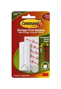 Command Wire-Backed Picture Hanger by Command. $5.04. Amazon.com                  3M Adhesive Technology 3M Command products offer simple, damage-free hanging solutions for many projects in your home and office. Simplify decorating, organizing, and celebrating with an array of general and decorative hooks, picture and frame hangers, organization products, and more.Thanks to the innovative Command Adhesive strips, you can mount and remount the bundlers without damagin...
