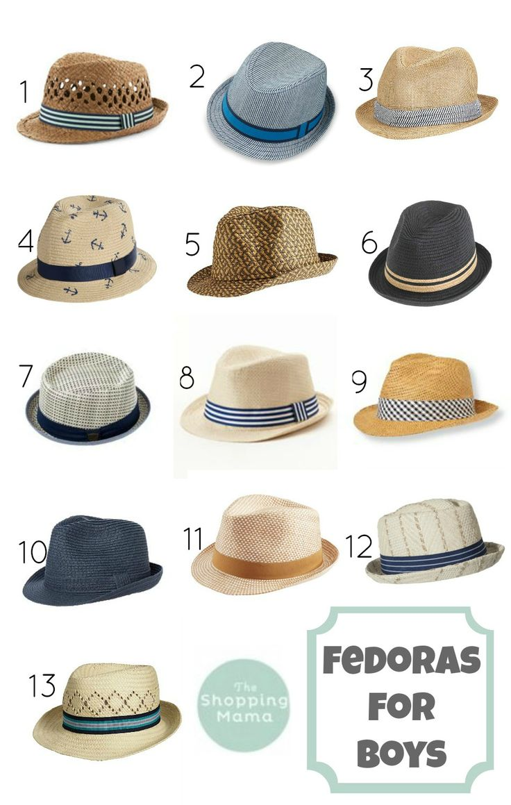 13 Awesome Fedoras For Boys || The Shopping Mama