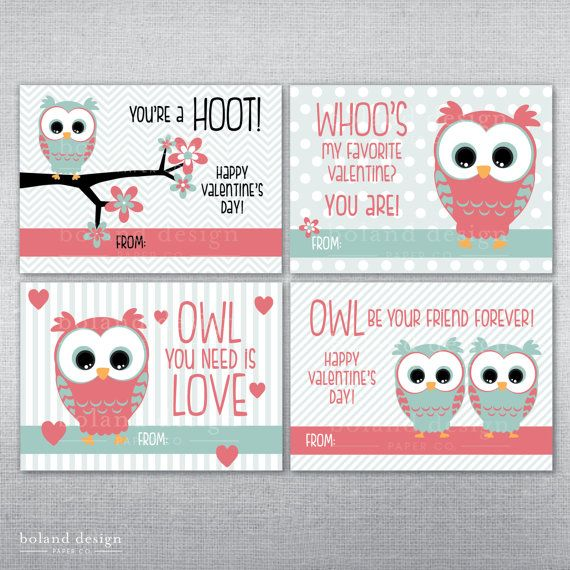 16 best images about Valentines Day – Owl Valentines Day Cards