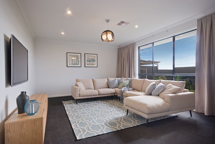 Home theater  A rossdale homes display home design, a South Australian new home builder.