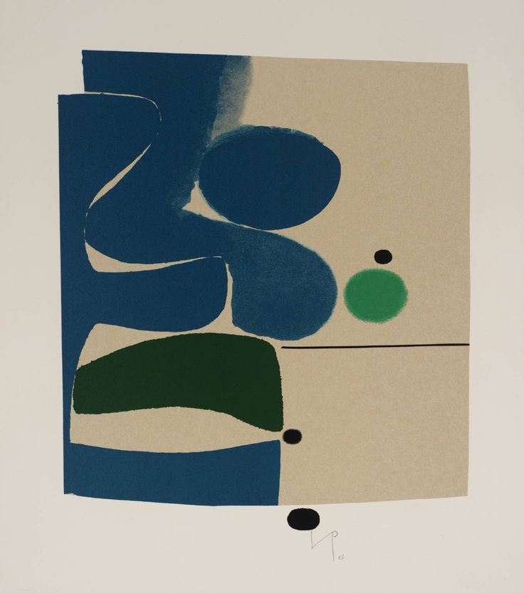 Victor Pasmore 'Blue Movement and Green', 1980 © Tate