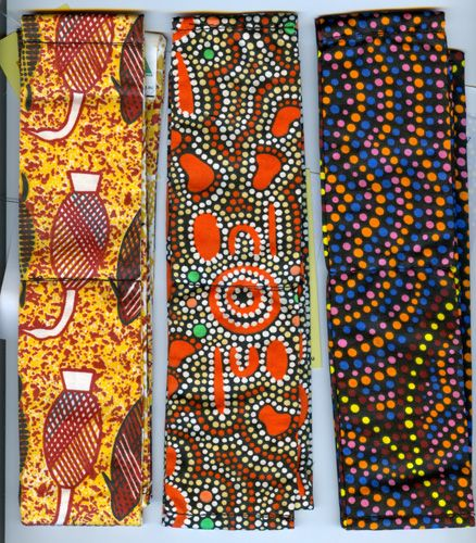 Aboriginal design Cool Ties (soak in water and put around neck to cool down) various designs $10.50 SPECIAL - 3 for $30.00