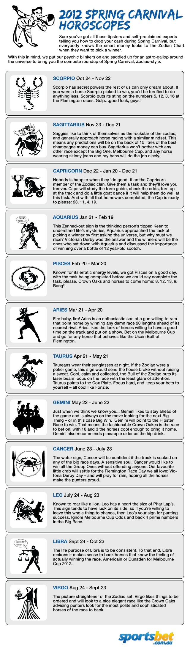 Spring Carnival Horoscopes