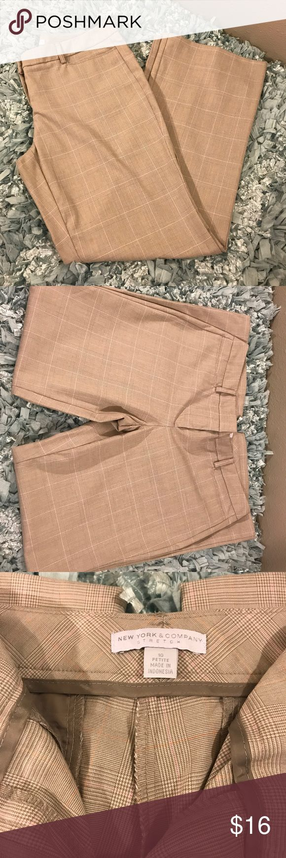 New York & Company Woman's Dress Pants New York & Company Woman's Stretch Dress Pants, Size 10 Petite New York & Company Pants Wide Leg