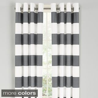 Nautica Cabana Stripe 84-Inch Grommet Top Curtain Panel Pair