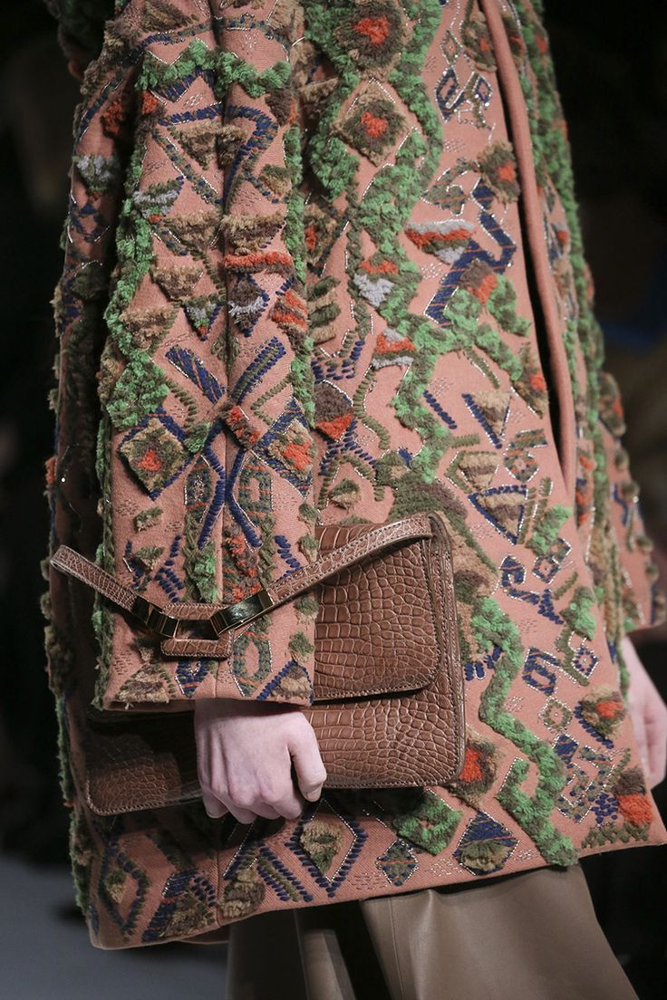 Incredible embellished coat detail. Valentino fall/winter 2014 #valentino
