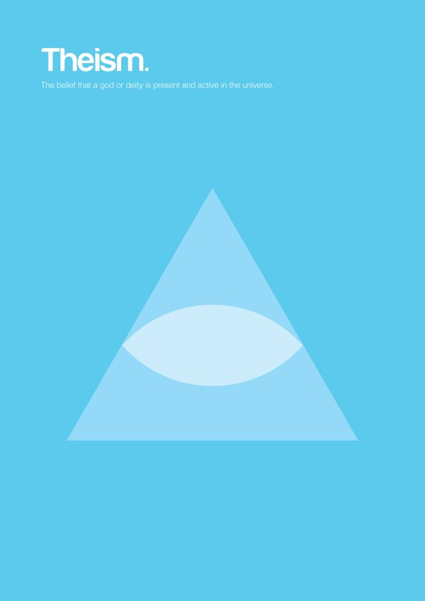 Philographics, big ideas in simple shapes - Theism