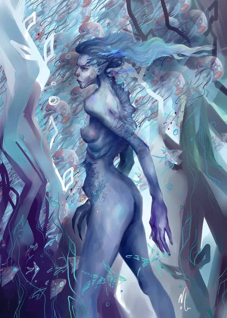 Nolu #noluart #digital #art #illustration #sea #girl #fantasy
