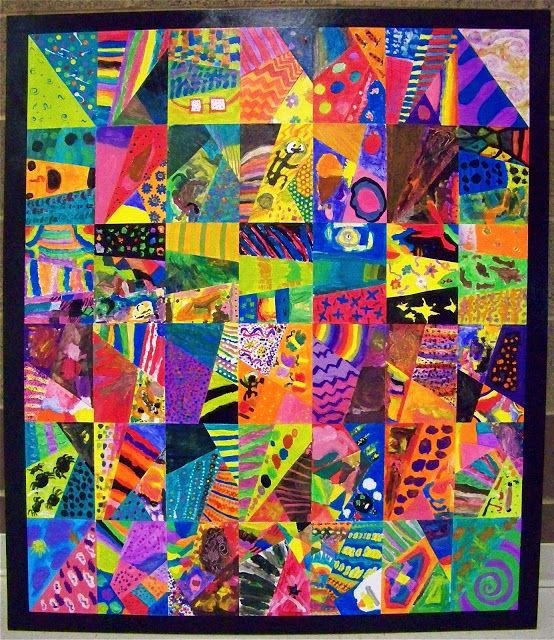 17 best images about cooperative art activities on for Abstract mural painting