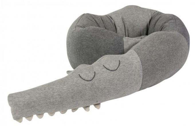 Sebra Kudde Sleepy Croc, Grå