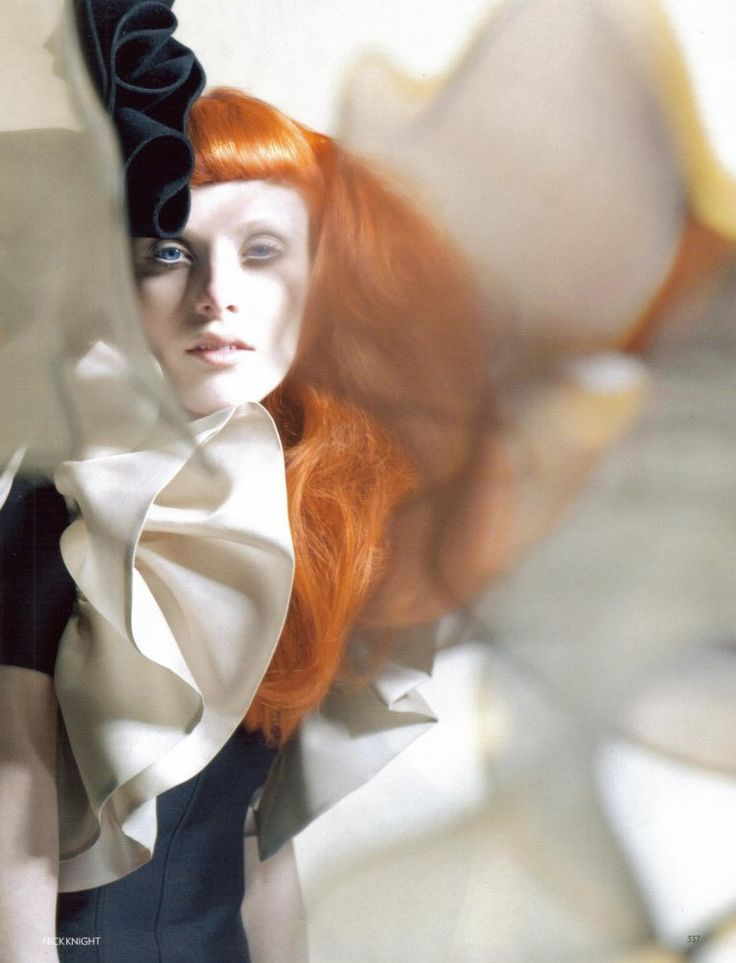 "Love the ethereal quality of this set!     ""Karen Elson by Nick Knight for Vogue UK-October'2008"""