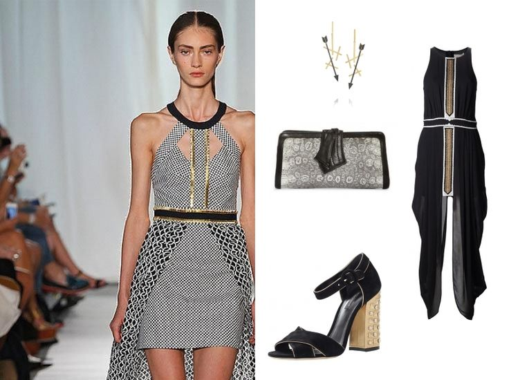 Love the high/ low dramatism this dress gives- but if the sexy cut outs are what you covet, scroll through the looks and shop the other Sass and Bide options.