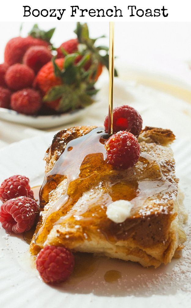 Boozy Baked French Toast Recipe — Dishmaps
