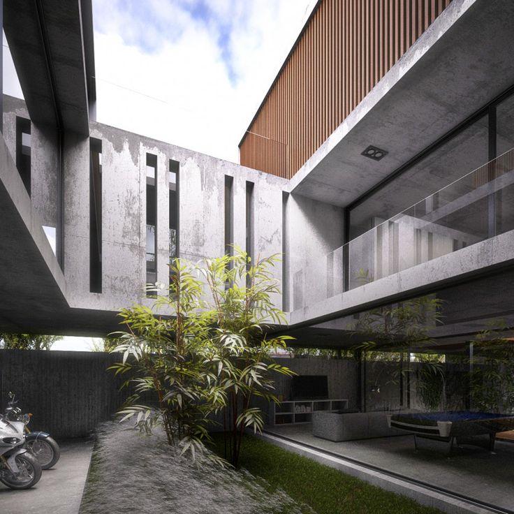 17 mejores ideas sobre arquitectura residencial en for Arquitectura minimalista edificios