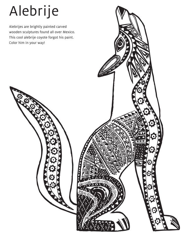Alebrije Coloring Book Page Art Multicultural