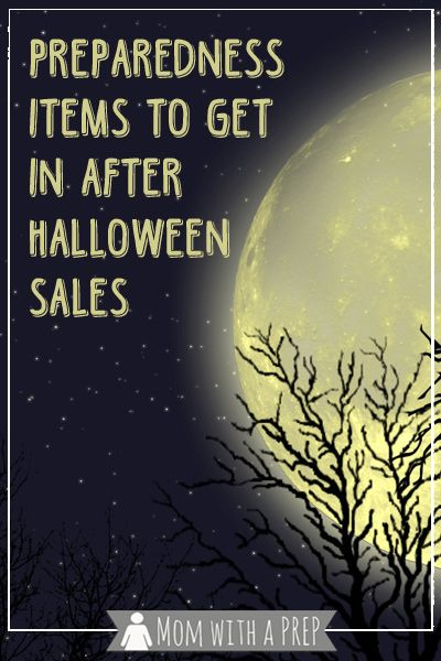 preparedness items to get in post halloween sales - Halloween Sales
