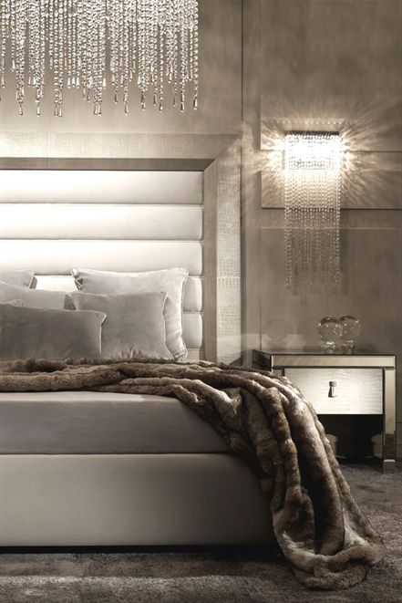 Contemporary Alligator Embossed Pattern Leather Italian Bed in 2018