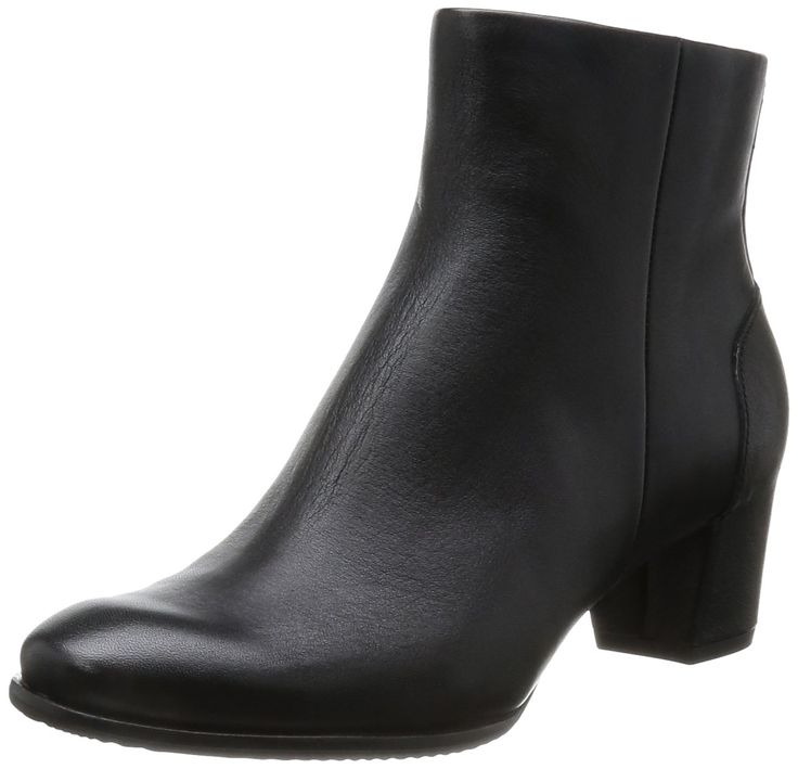 "ECCO Women's Pailin,Black Leather,EU 40 M. Heel Height: 2"". Shaft Height: 5 1/2"" (Size 7). Circumference: 10"" (Size 7). Fit: True to Size. Insole: TPE."