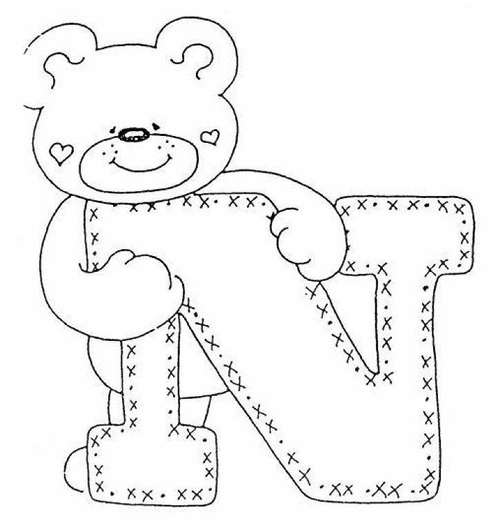 abecedario de ositos | Aprender manualidades es facilisimo.com