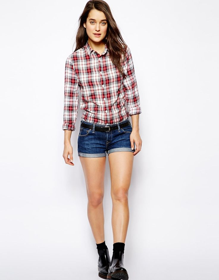 $74, Navy Denim Shorts: Jack Wills Denim Shorts. Sold by Asos. Click for more info: https://lookastic.com/women/shop_items/38294/redirect