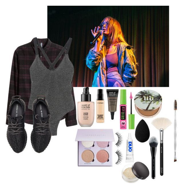 """NBK-Nykee Heaton"" by whatevernicole31 ❤ liked on Polyvore featuring Shlaer, adidas, MAKE UP FOR EVER, MAC Cosmetics, Anastasia Beverly Hills, Maybelline, Urban Decay, Huda Beauty, beautyblender and ZOEVA"