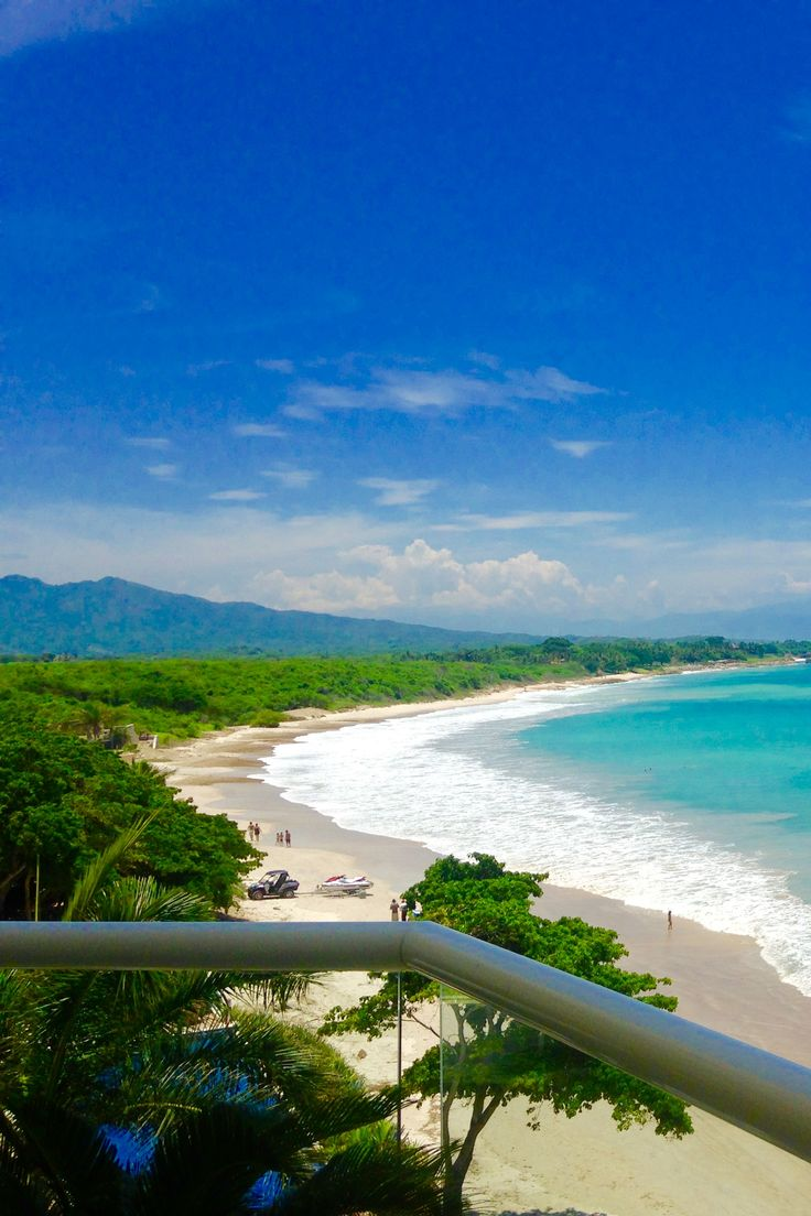 Punta de Mita Beach Mexico, perfect for surf, paddle board, snorkel. Balcony view from Beachfront Punta Mita Condo.