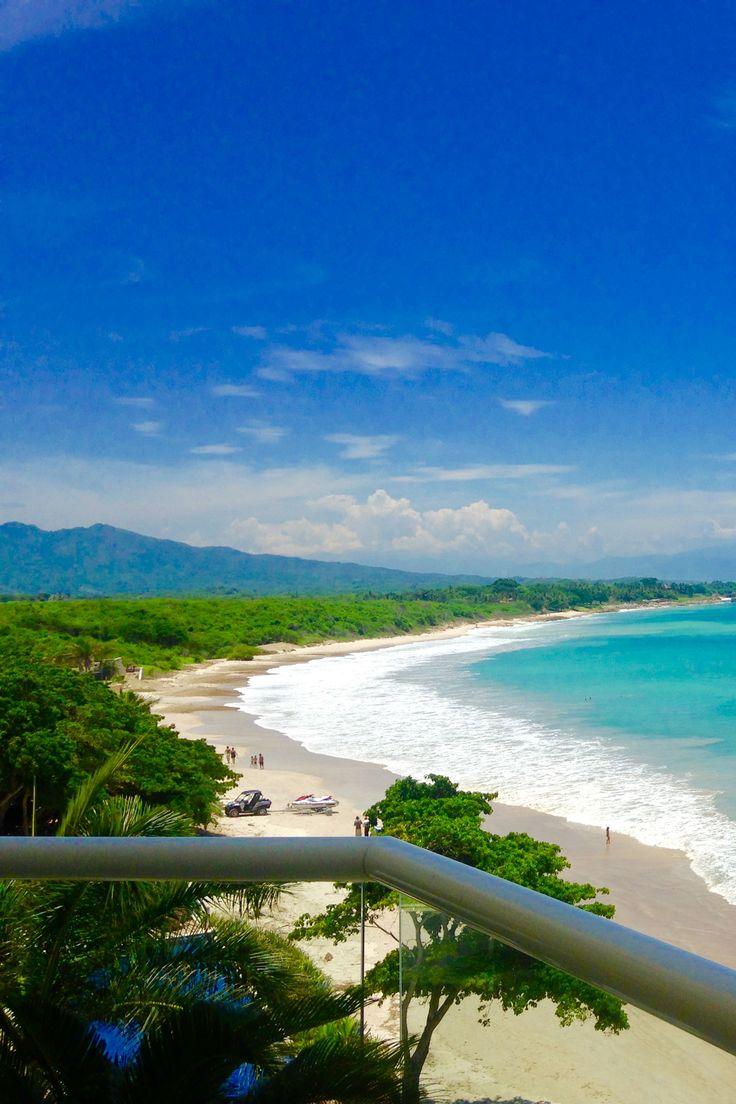 Punta de Mita Beach Mexico, perfect for surf, paddle board, snorkel. Balcony view from Beachfront Punta Mita Condo.