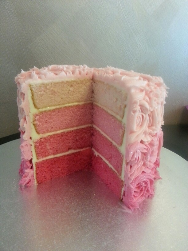 Pink ombre interior view