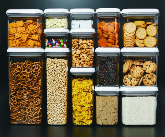 OXO- These are great.  Keep all kinds of things in them.  Snacks and cereal never go stale.