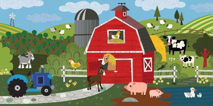 A Day on the Farm Canvas Art