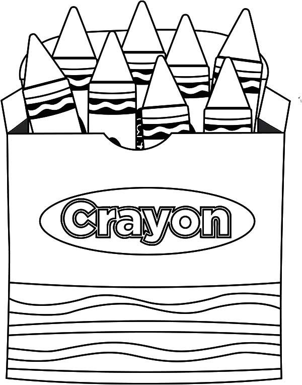 10+ Crayon box clipart black and white info