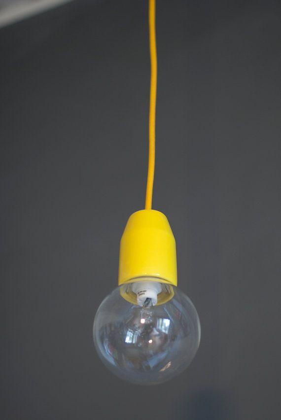 Tilka solo minimal lamp  Yellow by tilka on Etsy, €40.00