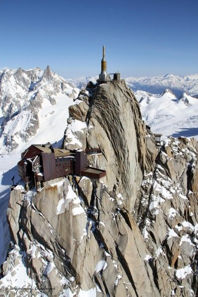 Aiguille du Midi, Mont Blanc massif, French Alps.